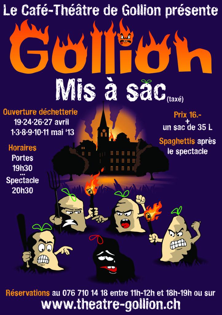 2013 - Gollion mis à sac