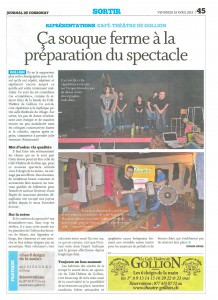 Journal de Cossonay, 24.04.2015