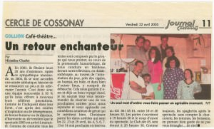 Journal de Cossonay, 22.04.2005